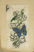 Texas:Early Texas Art - Impressionists, JOSEPHINE MAHAFFEY (American, 1903-1982). Untitled butterfly. Mixedmedia on paper, mounted on mat board. 10-1/4in. x 6-5/8i...