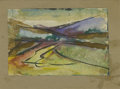 Texas:Early Texas Art - Impressionists, JOSEPHINE MAHAFFEY (American, 1903-1982). Untitled landscape. Mixedmedia on paper, mounted on cardboard. 5-1/4in. x 7-1/4in...