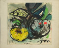 Texas:Early Texas Art - Impressionists, JOSEPHINE MAHAFFEY (American, 1903-1982). Untitled floral. Mixedmedia on paper, mounted on mat board. Signed to lower right...