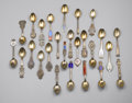 Silver Souvenir Spoons:Other , A GROUP OF MICHELESN YEARLY SPOONS. Copenhagen, Denmark. A group ofMichelesn commemorative yearly spoons, twenty six in t... (Total:26 Items)