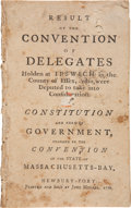 Books:Americana & American History, [Theophilus Parsons]. Result of the Convention of DelegatesHolden at Ipswich in the County of Essex, Who WereDep...