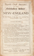 Books:Americana & American History, Cotton Mather. Magnalia Christi Americana: or, theEcclesiastical History of New-England, From its First Planting...