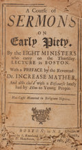 Books:Religion & Theology, Cotton Mather [editor]. A Course of Sermons on EarlyPiety....