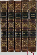 Books:Literature Pre-1900, Samuel Pepys. Memoirs of Samuel Pepys, Esq. London: HenryColburn, 1828. Second edition. Five octavo volumes. Co... (Total: 5Items)
