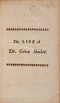 Books:Religion & Theology, Samuel Mather. The Life of the Very Reverend and Learned CottonMather....
