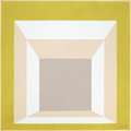 JOSEF ALBERS (American, 1888-1976) Study for Homage to the Square: Stucco Setting, 1958 Oil on board