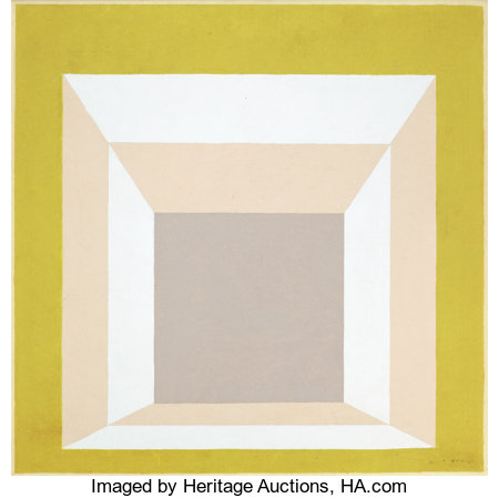 JOSEF ALBERS (American, 1888-1976)Study for Homage to the Square: Stucco Setting, 1958Oil on board29-1/2 x 29-1/2 ...