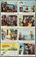 "Movie Posters:Adventure, The Adventures of Huckleberry Finn (MGM, 1960). Lobby Card Set of 8(11"" X 14""). Adventure.. ... (Total: 8 Items)"