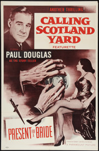 "Calling Scotland Yard (Paramount, 1954). One Sheet (27"" X 41""). Short Subject. ""Present for a Bride.""..."