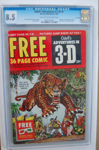 Odell's Adventures in 3-D #1 - File Copy (Harvey, 1953) CGC VF+ 8.5 Light tan to off-white pages