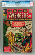 Silver Age (1956-1969):Superhero, The Avengers #1 (Marvel, 1963) CGC GD/VG 3.0 Cream to off-white pages....