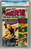 Silver Age (1956-1969):Superhero, Daredevil #1 (Marvel, 1964) CGC FN+ 6.5 Off-white to white pages....
