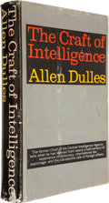 Books:Americana & American History, [CIA]. Allen Dulles. The Craft of Intelligence. New York:Harper & Row, Publishers, [1963].. First edition. Insc...