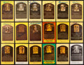 Baseball Collectibles:Others, Baseball Hall of Famers Signed Plaque Postcards Lot of 17. ...