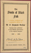 Books:Literature 1900-up, W. E. B. Du Bois. SIGNED BOOKPLATE. The Souls of Black Folk:Essays and Sketches. New York: Blue Heron Press, 19...
