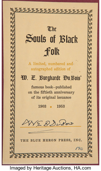Persuasive Essay Ideas For High School  Booksliterature Up W E B Du Bois Signed Bookplate The Souls   English Essay Sample also Essay Proposal Template W E B Du Bois Signed Bookplate The Souls Of Black Folk Essays  How To Write A Thesis Statement For An Essay