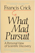 Books:Science & Technology, Francis Crick. SIGNED. What Mad Pursuit. [New York]: Basic Books, [1988]. Trade edition, fourth printing. Signed....