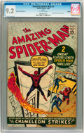 Silver Age (1956-1969):Superhero, The Amazing Spider-Man #1 Golden Record Reprint (w/o record) (Marvel, 1966) CGC NM- 9.2 Off-white pages....