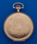 Timepieces:Pocket (post 1900), Elgin 16 Size 14k Gold Hunter's Case Pocket Watch. ...