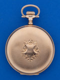 Timepieces:Pocket (post 1900), Waltham 16 Size 14k Gold Hunter's Case Pocket Watch. ...