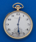 Timepieces:Pocket (post 1900), Longines 12 Size 14k Gold Green Gold Pocket Watch. ...
