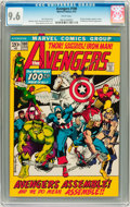 Bronze Age (1970-1979):Superhero, The Avengers #100 (Marvel, 1972) CGC NM+ 9.6 White pages....