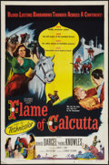 "Movie Posters:Adventure, Flame of Calcutta Lot (Columbia, 1953). One Sheet (27"" X 41"") andThree Sheet (41"" X 81""). Adventure.. ... (Total: 2 Items)"