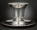 Silver Holloware, American:Center Pieces, AN AMERICAN SILVER CENTERPIECE AND UNDER PLATE. Tiffany & Co.,New York, New York, circa 1915. Marks: TIFFANY & CO.,18977... (Total: 2 Items Items)