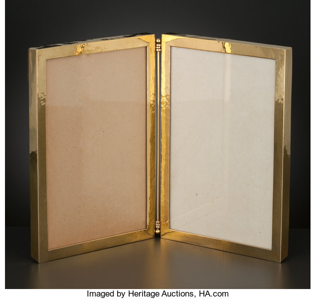 An American Gold Double Picture Frame With Easel Back Lot 68069
