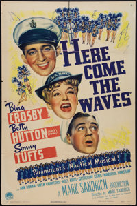"""Here Come the Waves (Paramount, 1944). One Sheet (27"""" X 41""""). Musical"""