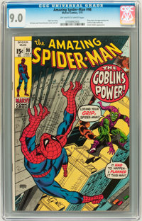 The Amazing Spider-Man #98 (Marvel, 1971) CGC VF/NM 9.0 Off-white to white pages