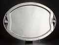 Silver & Vertu:Hollowware, A MEXICAN SILVER OVAL FOOTED TRAY . Tango Aceves, Mexico, circa 1950. Marks: Aceves, STERLING 925, MEXICO, (eagle 25). 1...