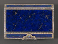 Silver Smalls:Snuff Boxes, A CONTINENTAL SILVER, SILVER GILT AND LAPIS LAZULI SNUFF BOX .Maker unidentified, Germany, circa 1920. Marks: SD (conjo...