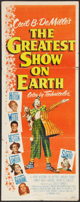 "The Greatest Show On Earth (Paramount, 1952). Insert (14"" X 36""). Drama"