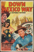 """Movie Posters:Western, Down Mexico Way (Republic, 1941). One Sheet (26.75"""" X 40""""). Western.. ..."""