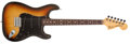 Musical Instruments:Electric Guitars, 1979 Fender Stratocaster Sunburst Solid Body Electric Guitar,#S959806. ...