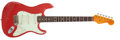 Musical Instruments:Electric Guitars, 2006 Nashguitars S-63 Fiesta Red Solid Body Electric Guitar,#KV60....