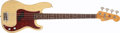Musical Instruments:Bass Guitars, 1966 Fender Precision Bass Blonde Solid Body Electric Bass Guitar,#110430. ...