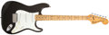 Musical Instruments:Electric Guitars, 1979 Fender Stratocaster Black Solid Body Electric Guitar,#S908938. ...