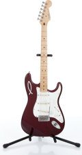 Musical Instruments:Electric Guitars, 1998 Fender Stratocaster Burgundy Electric Guitar, Serial #MN8315696....