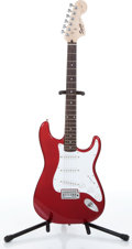 Musical Instruments:Electric Guitars, 2004 Fender Squier Affinity Series Candy Apple Red Electric Guitar,Serial # IC040842237....