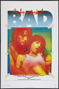 "Andy Warhol's Bad (New World, 1977). One Sheet (27"" X 41""). Exploitation"