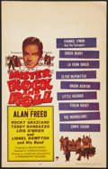 "Movie Posters:Rock and Roll, Mister Rock and Roll (Paramount, 1957). Window Card (14"" X 22"").Rock and Roll.. ..."