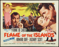 "Flame of the Islands (Republic, 1956). Half Sheet (22"" X 28""). Drama"