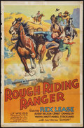 """Movie Posters:Western, Rough Riding Ranger (Superior Talking Pictures, 1935). One Sheet (27"""" X 41""""). Western.. ..."""