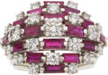 Estate Jewelry:Rings, Ruby, Diamond, Platinum Ring, Oscar Heyman. ...