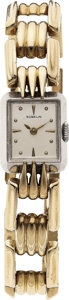 Estate Jewelry:Watches, Gübelin Lady's Gold, White Metal Wristwatch, circa 1940. ...