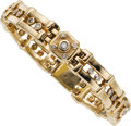 Estate Jewelry:Bracelets, Gentleman's Diamond, Gold Bracelet. ...
