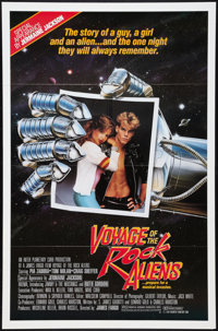 "Voyage of the Rock Aliens Lot (KGA/Interplanetary Curb, 1984). One Sheet (27"" X 41"") and Half Sheet (22""..."