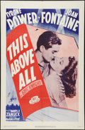 "Movie Posters:War, This Above All (20th Century Fox, R-1952). One Sheet (27"" X 41"").War.. ..."